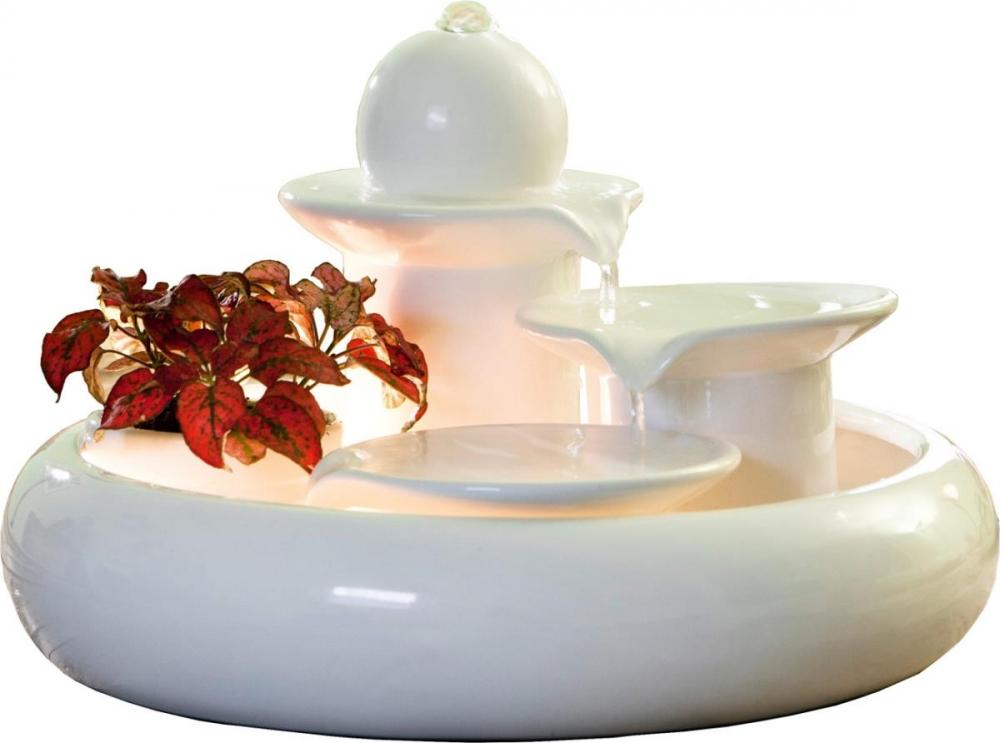 Keramikbrunnen Locarno weiß