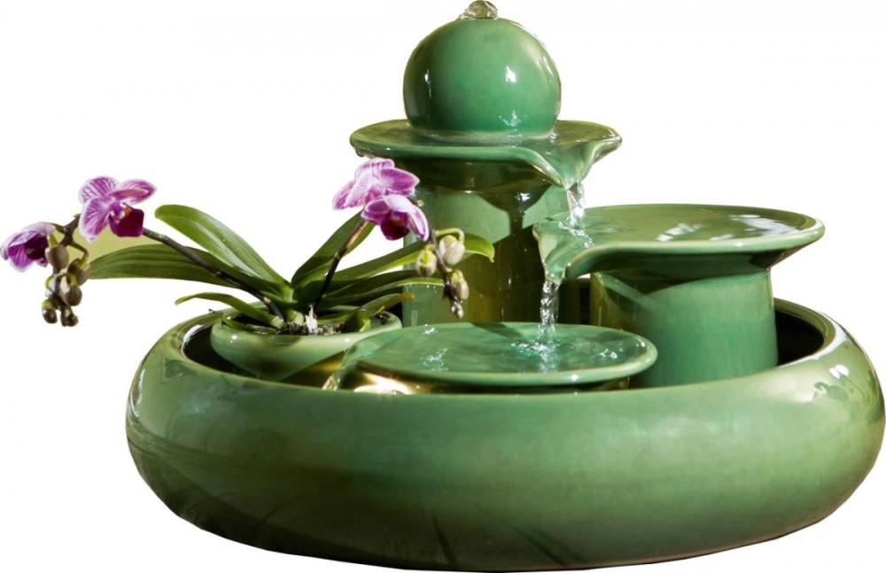 Keramikbrunnen Locarno grün