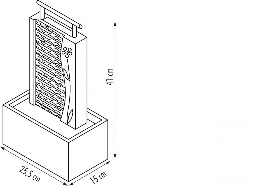 zimmerbrunnenpumpe 280 l mit licht ohne netzger t und ohne zwischenschalter. Black Bedroom Furniture Sets. Home Design Ideas