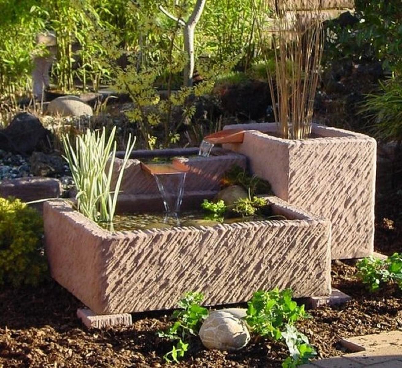 terrassen und gartenbrunnen arni. Black Bedroom Furniture Sets. Home Design Ideas